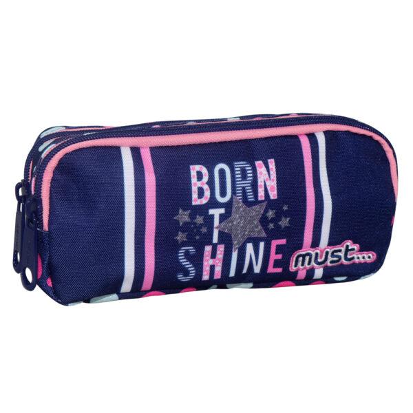 Σχολική Κασετίνα Βαρελάκι Must Energy Born To Shine με 2 Θήκες 579995 must Αγόρι, Κορίτσι 4-5 ετών, 5-7 ετών, 7-12 ετών