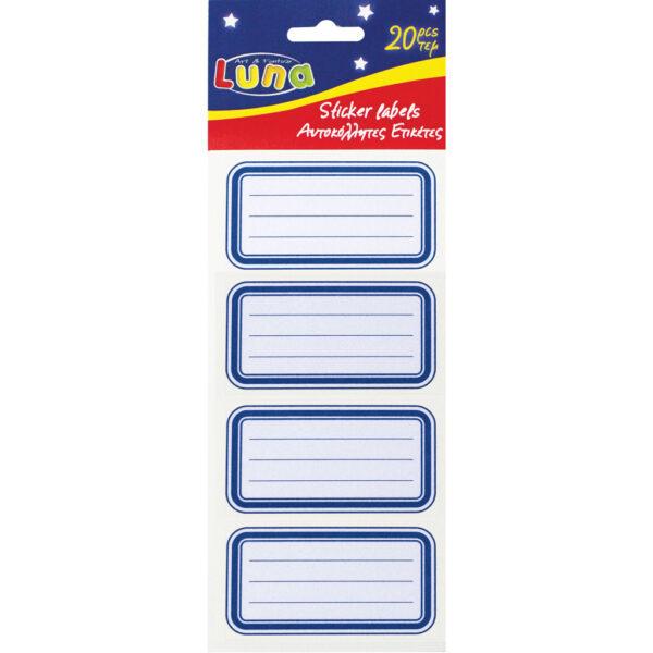 Ετικέτες Αυτοκόλλητες Luna 20 Τμχ. σε 5 Σχέδια 620550 luna Αγόρι, Κορίτσι 5-7 ετών, 7-12 ετών