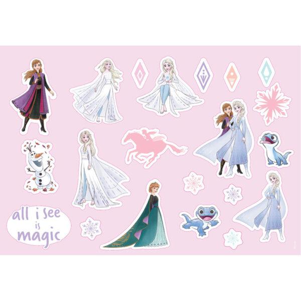 Frozen must Κορίτσι 3-4 ετών, 4-5 ετών, 5-7 ετών, 7-12 ετών Μπλοκ Ζωγραφικής Disney Frozen 2 40 Φύλλων με Αυτοκόλλητα-Στένσιλ- 2 Σελίδες Χρωματισμού, 23x33 εκ.  562751