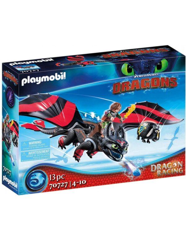 Playmobil Dragon Racing: Ψαρής και Φαφούτης -70727 Playmobil, Playmobil Dragons Αγόρι 12 ετών +, 4-5 ετών, 5-7 ετών, 7-12 ετών Dragons