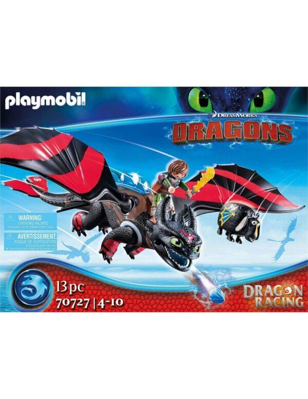 Playmobil Dragon Racing: Ψαρής και Φαφούτης -70727 Dragons Αγόρι 12 ετών +, 4-5 ετών, 5-7 ετών, 7-12 ετών Playmobil, Playmobil Dragons