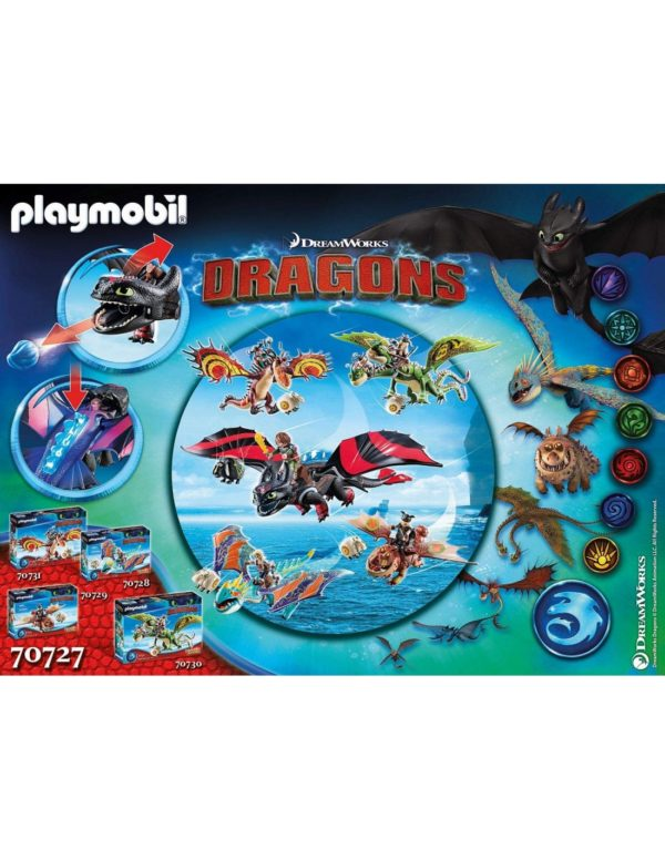 Dragons Playmobil, Playmobil Dragons Αγόρι 12 ετών +, 4-5 ετών, 5-7 ετών, 7-12 ετών Playmobil Dragon Racing: Ψαρής και Φαφούτης -70727