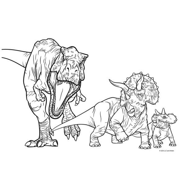 Μπλοκ Ζωγραφικής Jurassic World 40 Φύλλων με Αυτοκόλλητα-Στένσιλ- 2 Σελίδες Χρωματισμού, 23x33 εκ.  570771 3-4 ετών, 4-5 ετών, 5-7 ετών, 7-12 ετών Αγόρι must Jurassic World