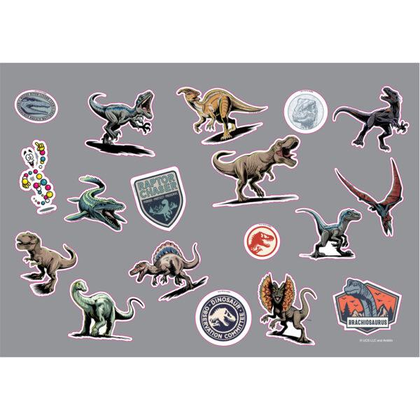 Jurassic World must Αγόρι 3-4 ετών, 4-5 ετών, 5-7 ετών, 7-12 ετών Μπλοκ Ζωγραφικής Jurassic World 40 Φύλλων με Αυτοκόλλητα-Στένσιλ- 2 Σελίδες Χρωματισμού, 23x33 εκ.  570771