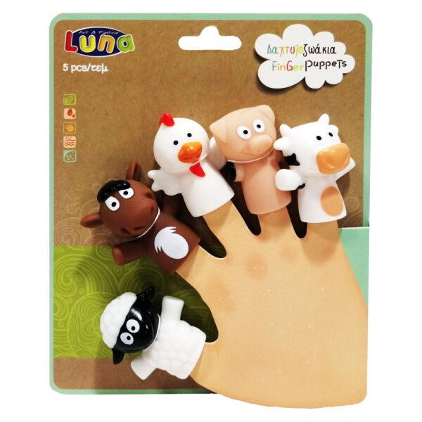 Δαχτυλοζωάκια Luna Toys 621466  Αγόρι, Κορίτσι 2-3 ετών, 3-4 ετών, 4-5 ετών luna