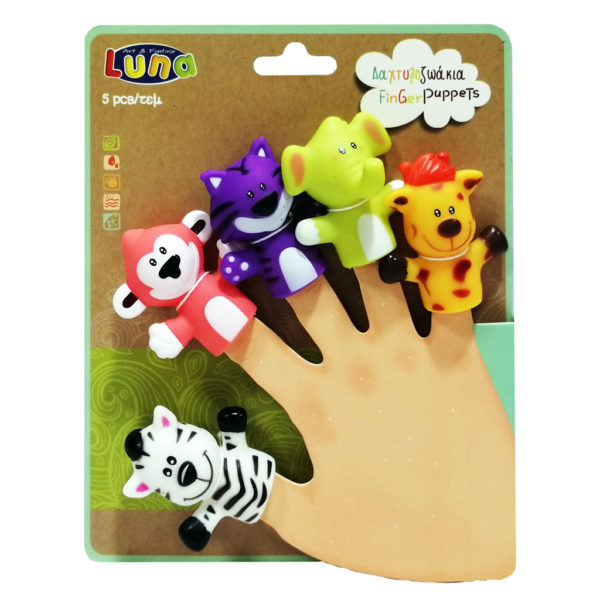 luna Αγόρι, Κορίτσι 2-3 ετών, 3-4 ετών, 4-5 ετών Δαχτυλοζωάκια Luna Toys 621466