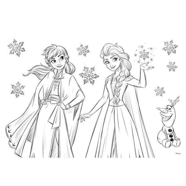 Μπλοκ Ζωγραφικής Disney Frozen 2 40 Φύλλων με Αυτοκόλλητα-Στένσιλ- 2 Σελίδες Χρωματισμού, 23x33 εκ.  562751 Κορίτσι 3-4 ετών, 4-5 ετών, 5-7 ετών, 7-12 ετών Frozen must