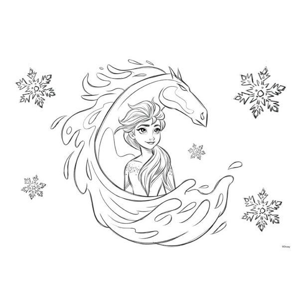 Μπλοκ Ζωγραφικής Disney Frozen 2 40 Φύλλων με Αυτοκόλλητα-Στένσιλ- 2 Σελίδες Χρωματισμού, 23x33 εκ.  562751 3-4 ετών, 4-5 ετών, 5-7 ετών, 7-12 ετών Κορίτσι must Frozen