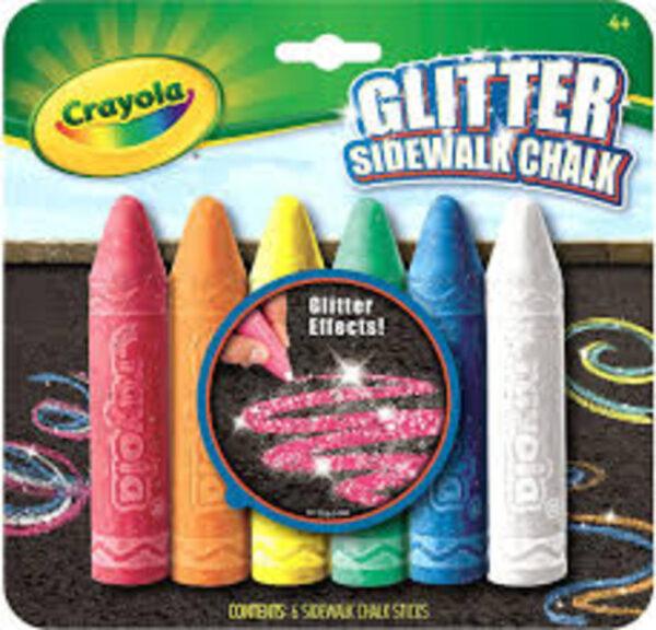 Crayola Κιμωλίες Εξωτερικού Χώρου με Glitter    Crayola