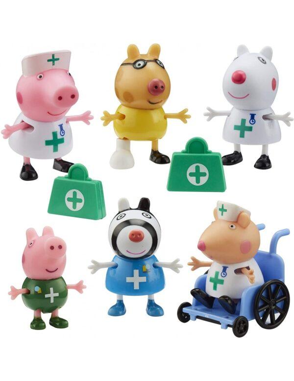 Peppa Pig Σετ Φιγούρων Γιατροί & Νοσοκόμες  PPC95000 Peppa Pig Αγόρι, Κορίτσι  Peppa Pig