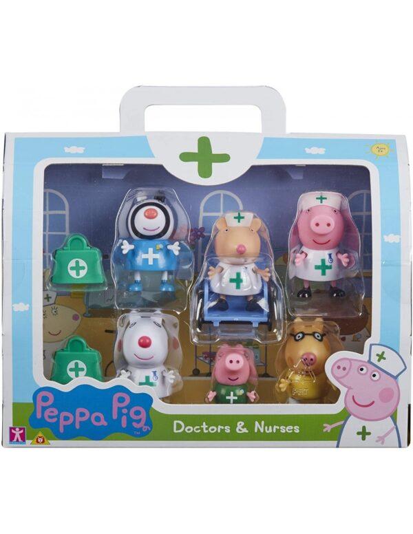 Peppa Pig Peppa Pig Peppa Pig Σετ Φιγούρων Γιατροί & Νοσοκόμες  PPC95000 Αγόρι, Κορίτσι