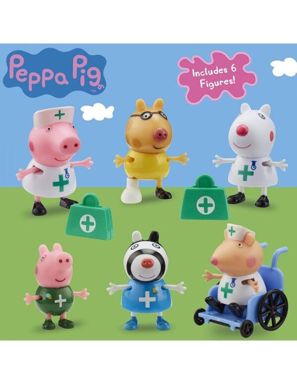 Peppa Pig Peppa Pig Αγόρι, Κορίτσι  Peppa Pig Σετ Φιγούρων Γιατροί & Νοσοκόμες  PPC95000