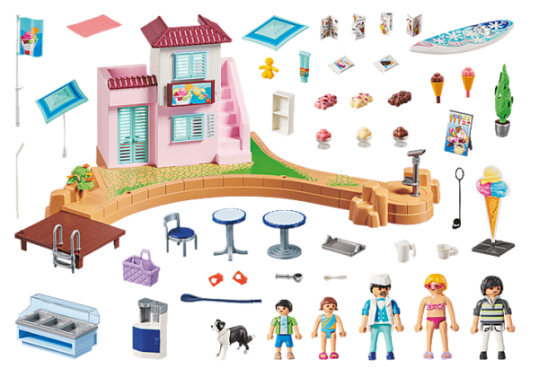 Playmobil Family Fun Παραθαλάσσιο παγωτατζίδικο 70279  Αγόρι, Κορίτσι 4-5 ετών, 5-7 ετών, 7-12 ετών Playmobil, Playmobil Family Fun