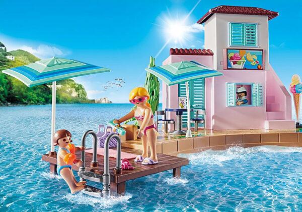 Playmobil, Playmobil Family Fun Αγόρι, Κορίτσι 4-5 ετών, 5-7 ετών, 7-12 ετών Playmobil Family Fun Παραθαλάσσιο παγωτατζίδικο 70279