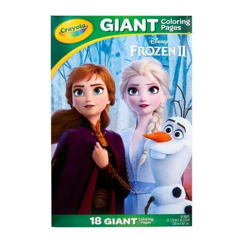 Crayola Τετράδιο Χρωμοσελίδων Γίγας & Αυτοκόλλητα Frozen Crayola Κορίτσι  Frozen