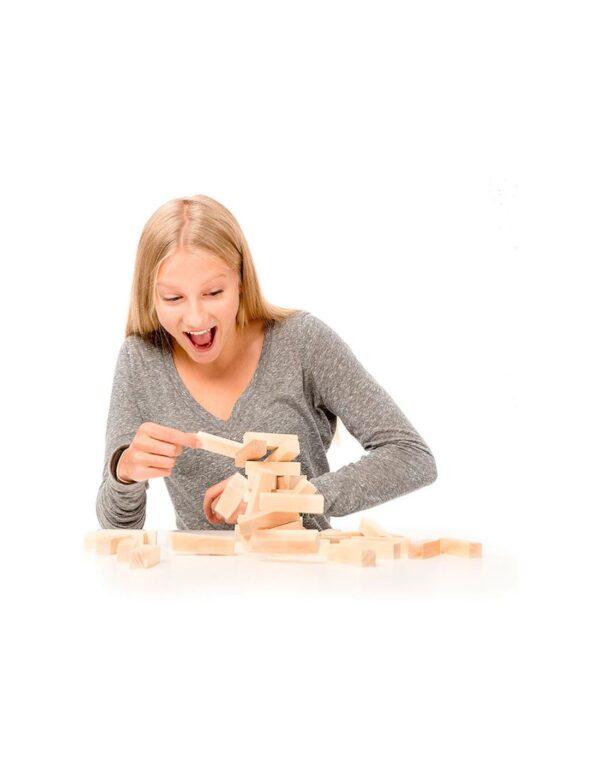 Tactic Επιτραπέζιο Παιχνίδι Ξύλινος Πύργος Σε Μεταλλικό Κουτί NTC11000  Αγόρι, Κορίτσι  Tactic
