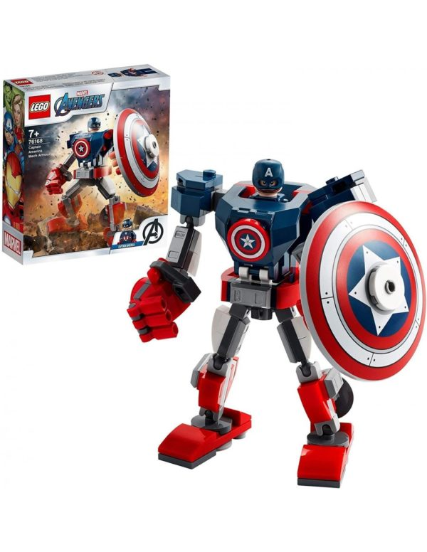 Lego Marvel Avengers  Captain America Mech Armor76168 Avengers Αγόρι 12 ετών +, 7-12 ετών Lego Super Heroes