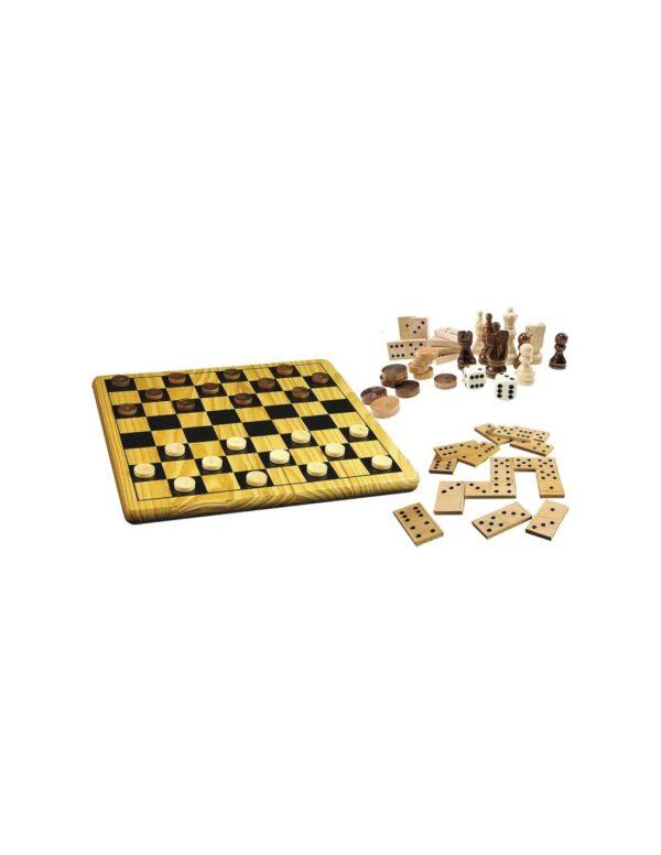 Tactic Eπιτραπέζιο 5 σε 1 σκακι, ταβλι, νταμα, ντομινο ntc10000  Αγόρι, Κορίτσι  Tactic