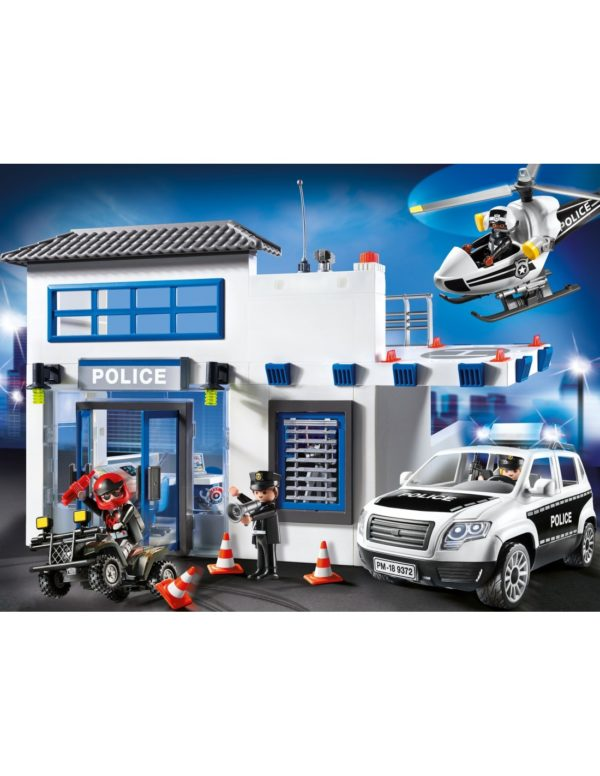 Playmobil City Action Αστυνομικό Τμήμα Με Περιπολικό και Ελικόπτερο 9372  Αγόρι 4-5 ετών, 5-7 ετών, 7-12 ετών Playmobil, Playmobil City Action