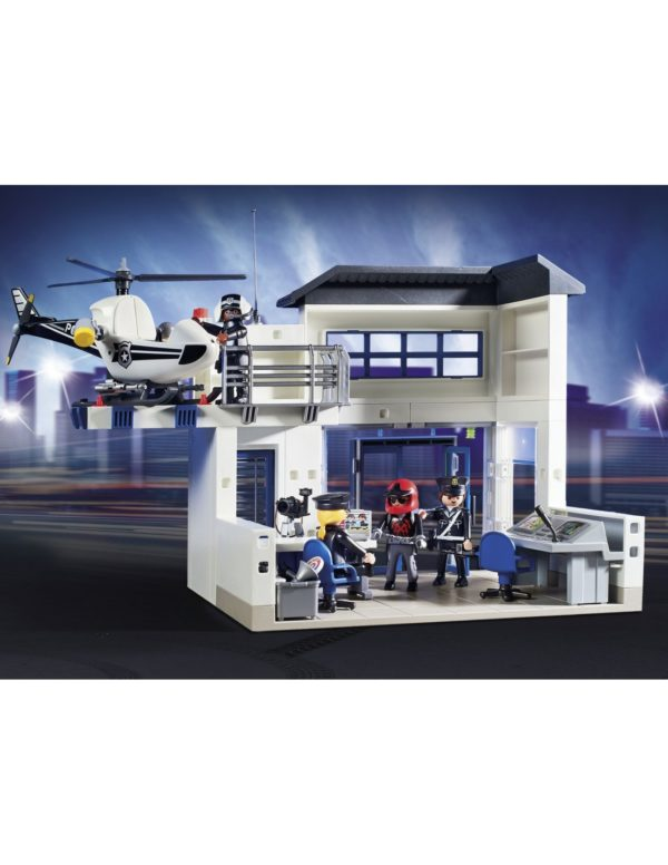 Playmobil, Playmobil City Action  Playmobil City Action Αστυνομικό Τμήμα Με Περιπολικό και Ελικόπτερο 9372 Αγόρι 4-5 ετών, 5-7 ετών, 7-12 ετών