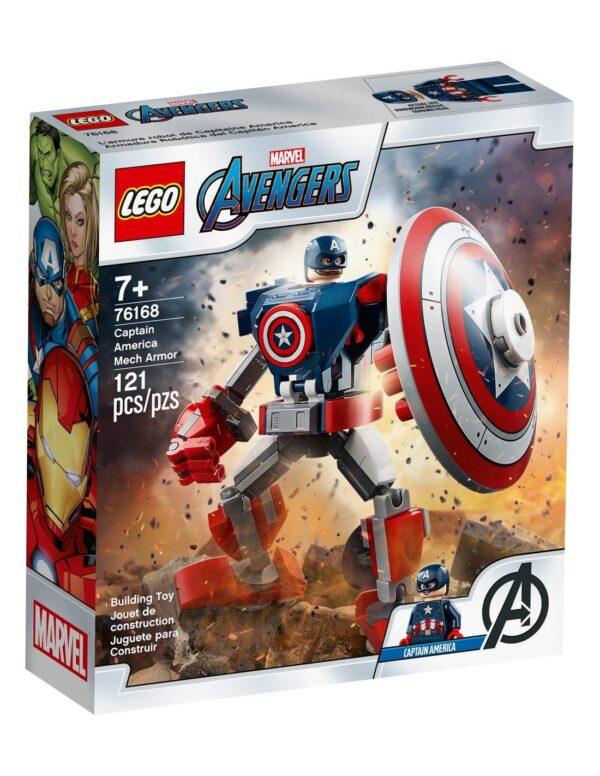 Lego Marvel Avengers  Captain America Mech Armor76168 Lego Super Heroes Αγόρι 12 ετών +, 7-12 ετών Avengers