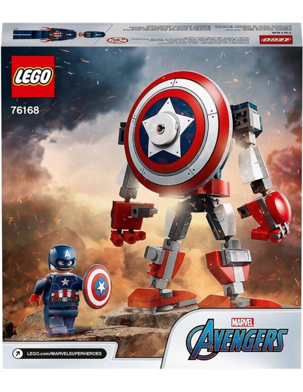 Avengers Lego Marvel Avengers  Captain America Mech Armor76168 Lego Super Heroes 12 ετών +, 7-12 ετών Αγόρι