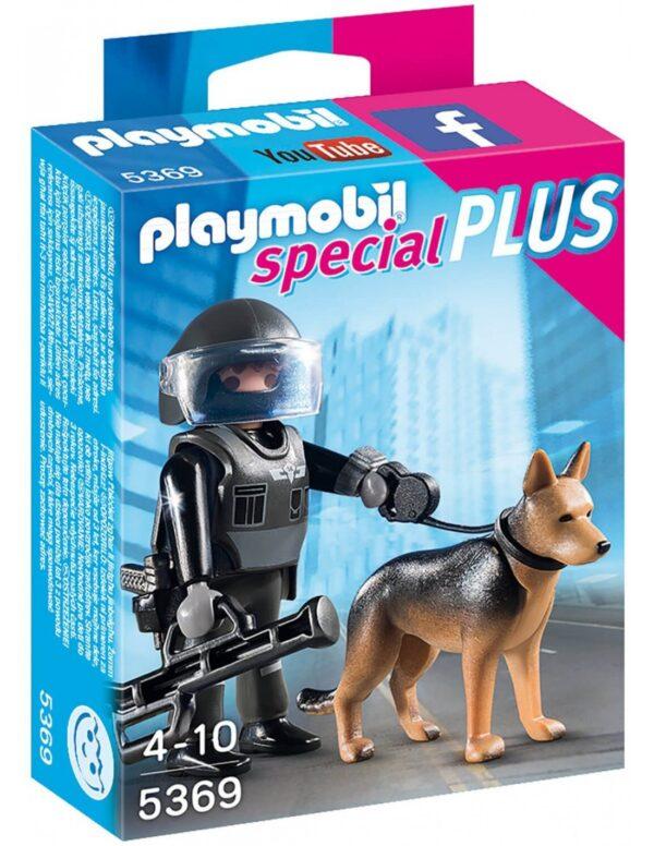 Playmobil Special Plus Αστυνομικός με Εκπαιδευμένο Σκύλο 5369 Playmobil, Playmobil Special Plus Αγόρι 4-5 ετών, 5-7 ετών, 7-12 ετών