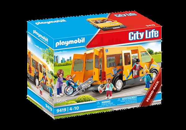 Playmobil City Life Σχολικό λεωφορείο 9419 Playmobil, Playmobil City Life Αγόρι, Κορίτσι 4-5 ετών, 5-7 ετών, 7-12 ετών