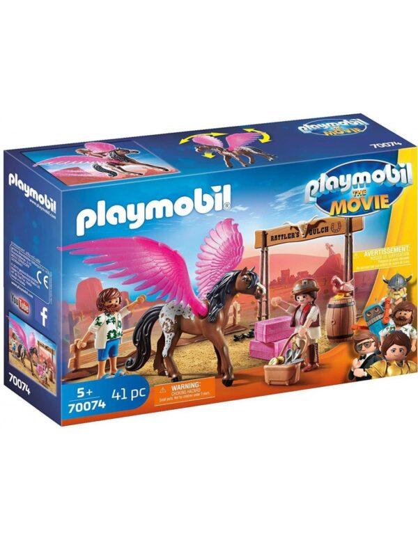 Playmobil The Movie Η Μάρλα και ο Ντελ στην Άγρια Δύση 70074 Playmobil Αγόρι, Κορίτσι 4-5 ετών, 5-7 ετών, 7-12 ετών