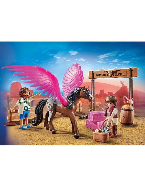 Playmobil Αγόρι, Κορίτσι 4-5 ετών, 5-7 ετών, 7-12 ετών Playmobil The Movie Η Μάρλα και ο Ντελ στην Άγρια Δύση 70074