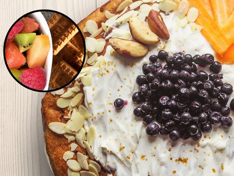 Fresh Fruit Biscuit Cake