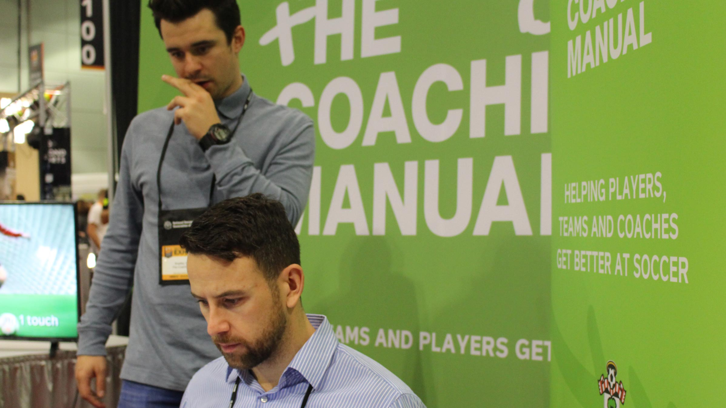 Members of The Coaching Manual at work