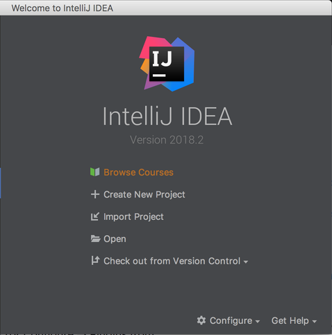IntelliJ IDEA起動画面にBrowser Coursesが出た