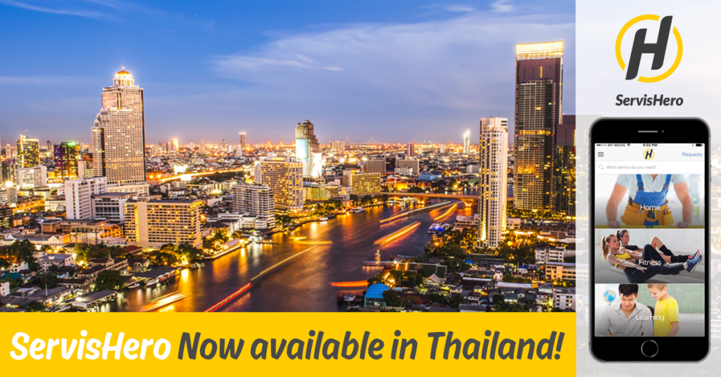 ServisHero launches in Thailand -en