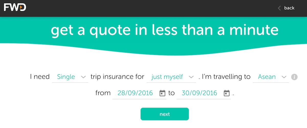 fwd get quote travel insurance
