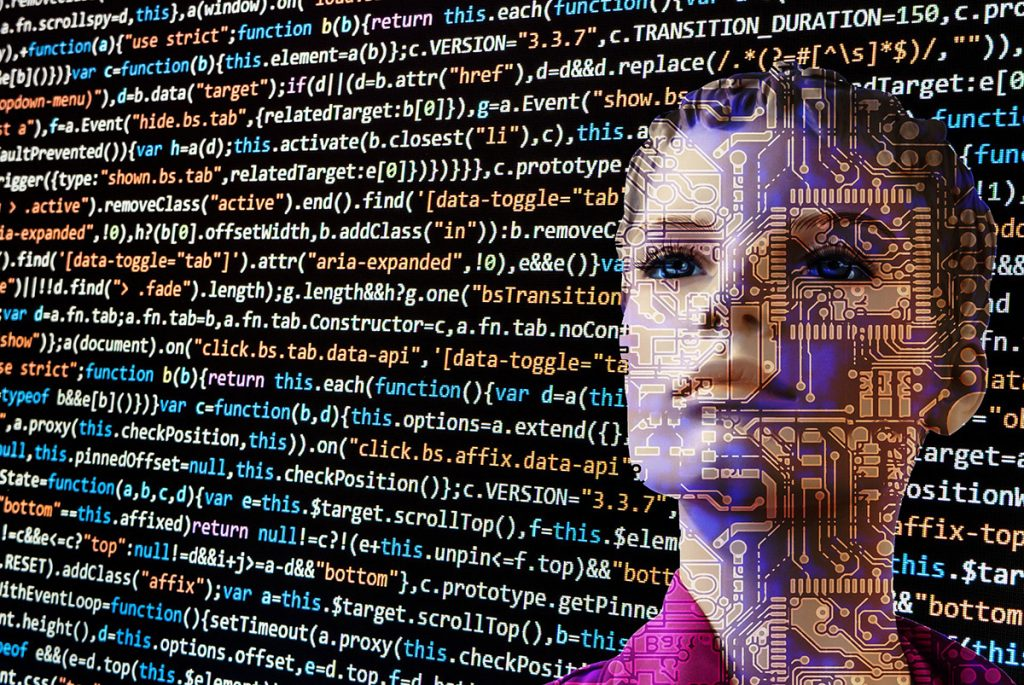 Artificial intelligence or AI on coding