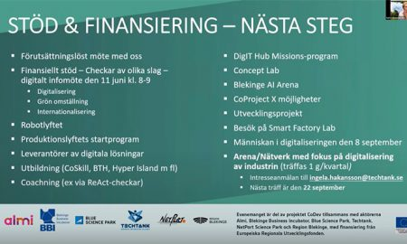Översikt finansiering smart industri