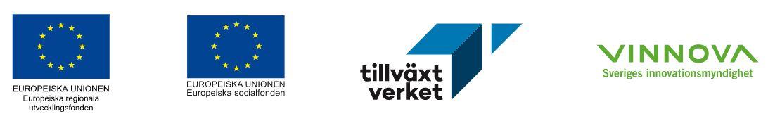 Logotyper projektfinansiärer
