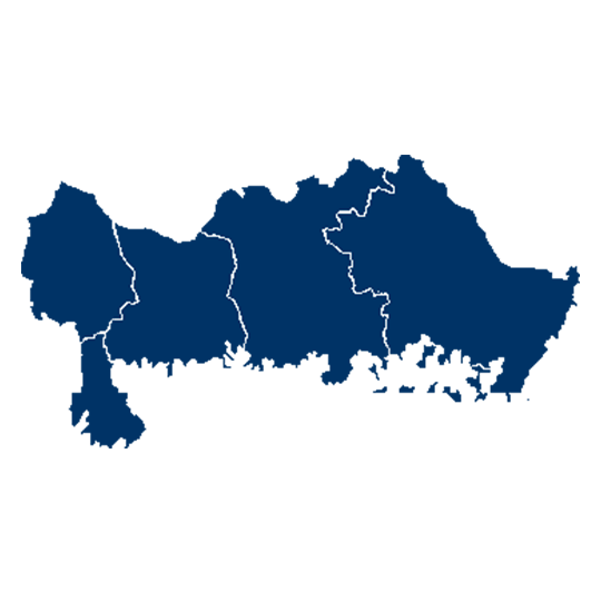 Karta över Blekinge