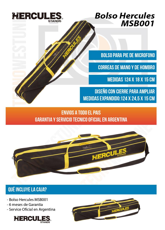 Bolso Soporte Y Para De Parlantes Hercules Msb001 Micrófonos NOXn0wk8P