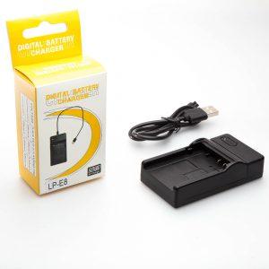 Cargador USB para Canon LP-E8 Rebel T2i T3i T4i T5i Kiss X4