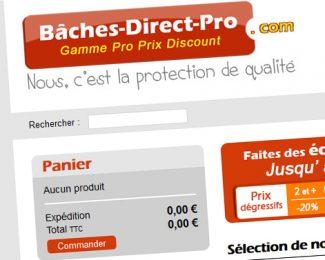 Le top de la bache PVC plastique polyester en 900 grammes est sur baches-direct-pro.com