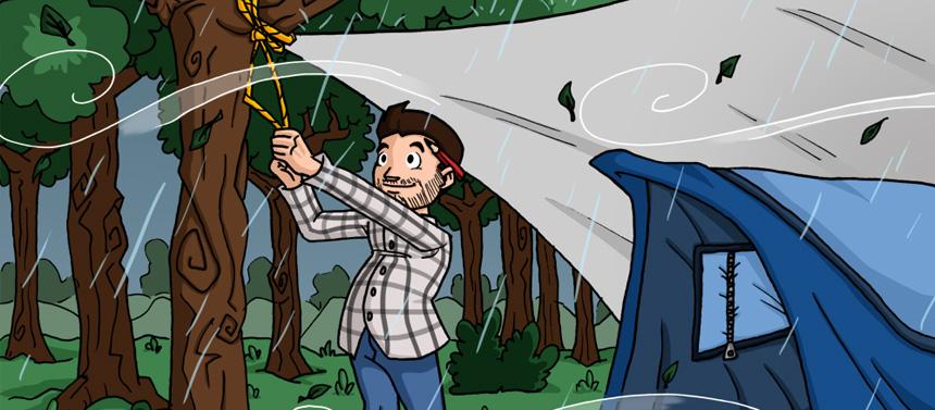 Bâche de camping «protection de votre tente»