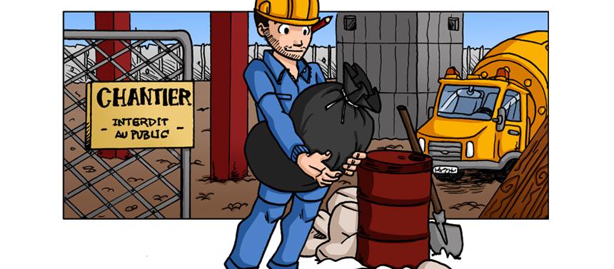 Pour un chantier propre, des sacs à gravats solides