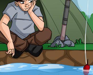 Fred en weekend à la pêche [partie 1] : installation du campement