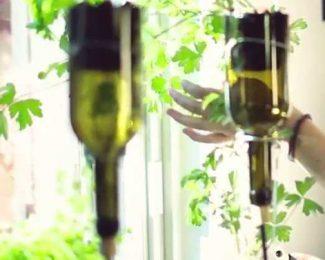 DIY d'une jardinière suspendue en bocaux de verre