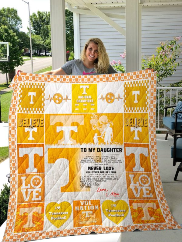 Tennessee Volunteers – TO MY DAUGHTER – LOVE MOM Quilt