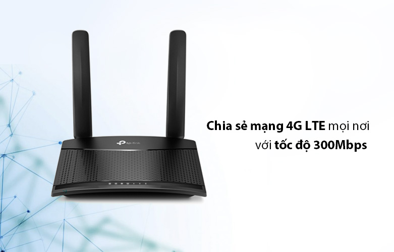 Router TP-Link MR100   chia sẻ mạng 4G LTE