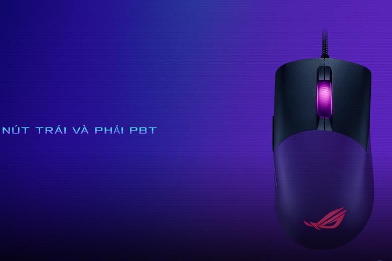 Chuột gaming Asus ROG Keris (P509) (Đen) | Nút trái và phải PBT