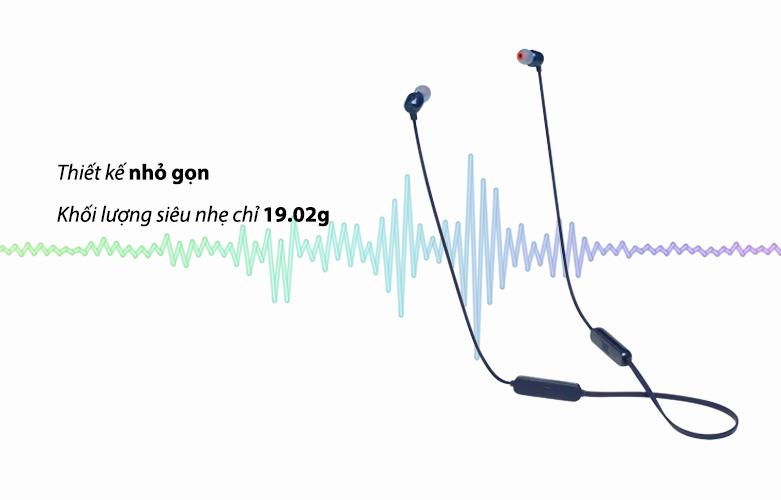 Tai nghe Bluetooth JBL T115BTBLU (Xanh Dương) | Thiết kế nhỏ gọn